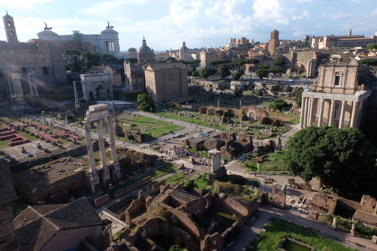 Inside the Roman Forum
