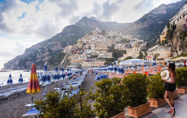 After editing of Positano photo