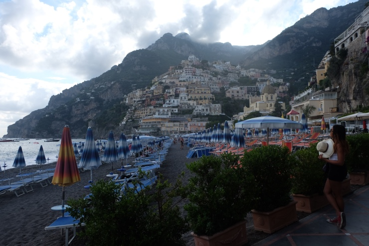 Before editing photo of Positano